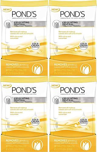 Pond's Moisture Clean Towelettes, Exfoliating Renewal, 28 Count (Pack of - Towelettes Exfoliating