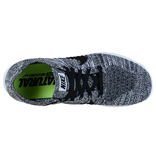 Free Flyknit Rn Course Noir blanc Chaussures Blanches Nike Competition Wmns De BIW56q1
