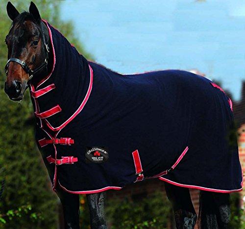 Challenger Horsewear 74'' Horse Sheet Polar Fleece Cooler Exercise Blanket Wicks Moisture 4385N by Challenger Horsewear