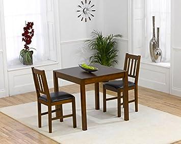Set House Furniture Solidwood Berlin Dunkle Stuhl Oak Esstisch Eiche 4jq35RLA