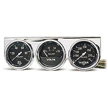 "Auto Meter 2399 Chrome 2-5/8"" Mechanical Three-Gauge Console"
