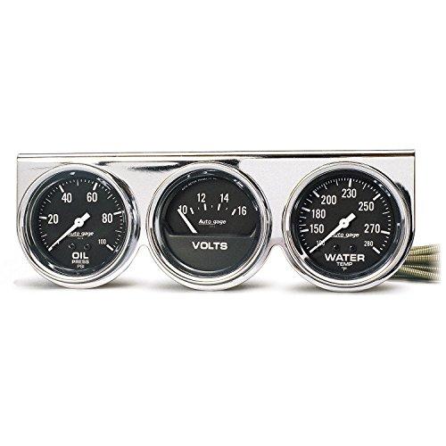 - Auto Meter 2399 Oil Water Volt Gauge Panel