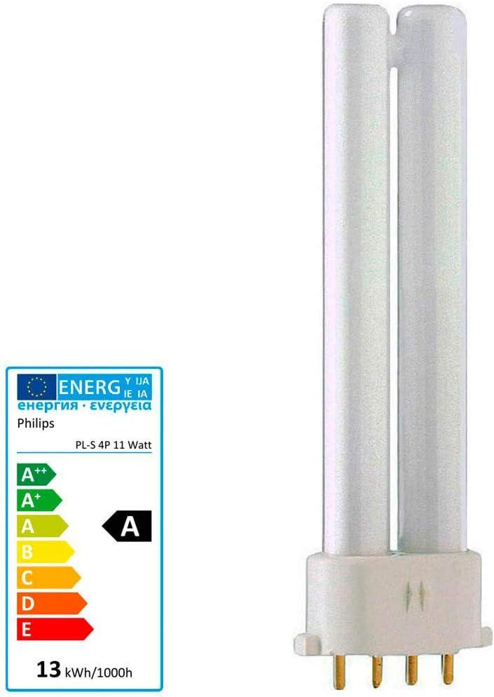 4-Stift 10x Philips MASTER PL-S 11W//840 2G7 4PIN Kaltwei/ß 4000K Energiesparlampe 220mm