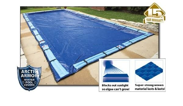 Winter Pool Cover Inground 20X44 Ft Rectangle Arctic Armor 8Yr Warranty