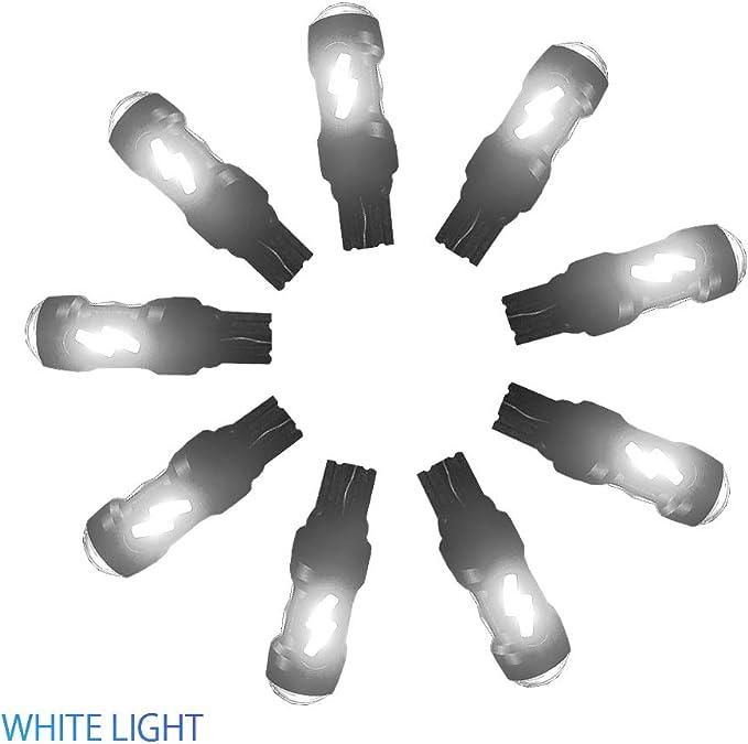 Ai Qiliang little led light bulbs t10 width lamp 194 lighten the broadening auxiliary white light 12v 2pcs