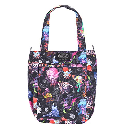 JuJuBe Be Light Everyday Lightweight Zippered Tote Bag, World of Warcraft Collection – Cute But Deadly