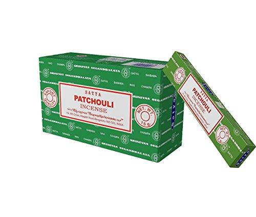 Satya Nag Champa Patchouli Incense Sticks, 12 Count