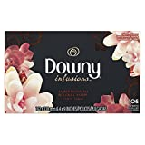 Downy Infusions Fabric Softener Dryer Sheets, Amber Blossom Scent, 105 Count