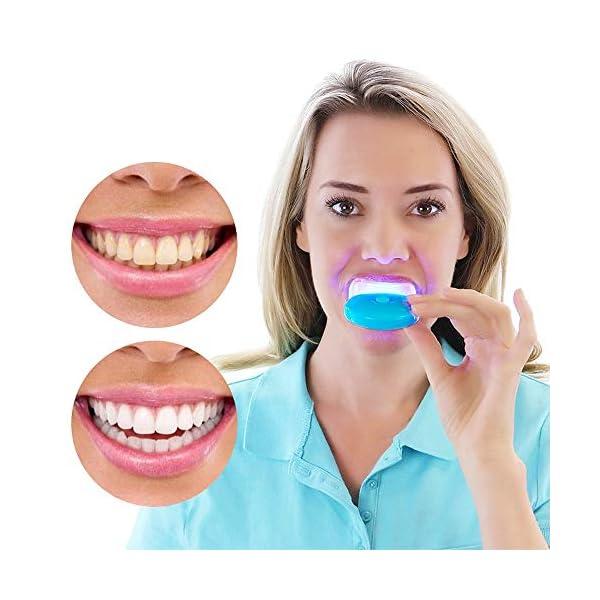 CZTY Luz LED para blanquear los Dientes Gel blanqueador para la Salud Cuidado bucal para el Tratamiento Dental Personal… 2