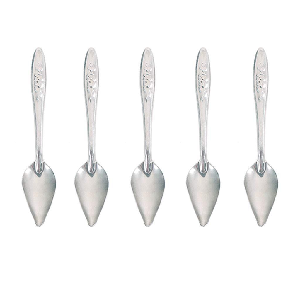 "5 Pcs Bird Parrot Feeder Spoon Stainless Steel Milk Medicine Parrot Feeding Spoon for All Baby Bird Peony Cockatiel 4.7"""