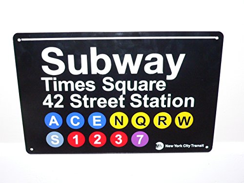 Signs Of The City (New York City Times Square Tin Subway Sign)