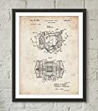 Bench Grinder Patent Poster