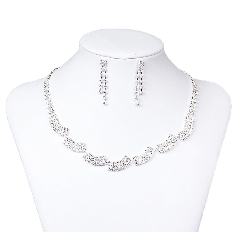 Belle House Women's Wedding Jewellery Sets Rhinestone Bride Earrings & Necklace BH15050