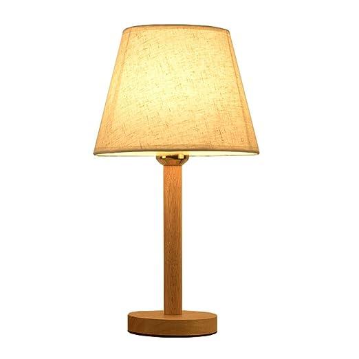 DFMD Lámparas de Mesa LED de Madera Maciza - Nordic Living Room ...