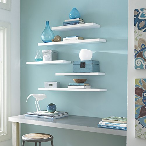 Style Selections 35.4-in W x 1.5-in H x 7.87-in D Wood Wall Mounted Shelving by Style Selections (Image #1)