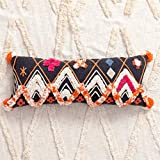 Zuodian YL Visual Taste Moroccan Style Hand-Embroidered Cotton Pillow Long Strip Pillow Creative Cushion (Color : G)