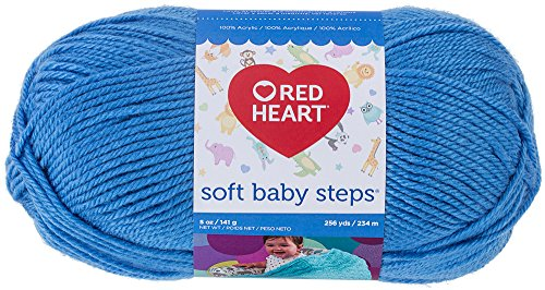 Red Heart Soft Baby Steps Yarn, Solid, Deep Sky