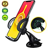 DAXANZ Phone Holder for car,Windshield Short Holder,Car Mount,Mobile Cell Phone Stands Mount Holder for iPhone X 8 Plus 7 6s SE Samsung Galaxy S9 S8 Edge S7 S6 Note 8