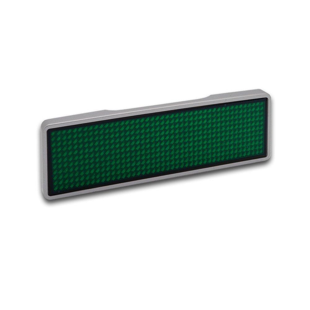 programmabile tramite USB Farbe Rahmen pink silber Farbe LED Targhetta con nome a LED 11 x 44 pixel