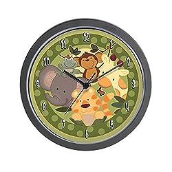 CafePress Jungle Safari Animals Unique Decorative 10 Wall Clock