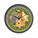 CafePress - Jungle Safari Animals - Unique Decorative 10'' Wall Clock