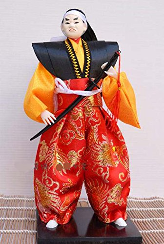 "Japanese Warrior Doll - Samurai- 30cm/11.8"" tall - Asian Doll - GW004"