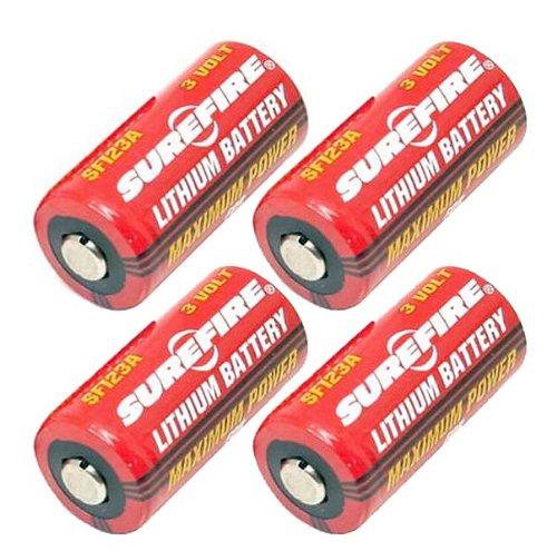 (SureFire SF123A 3-Volt Lithium Battery-4-pack )