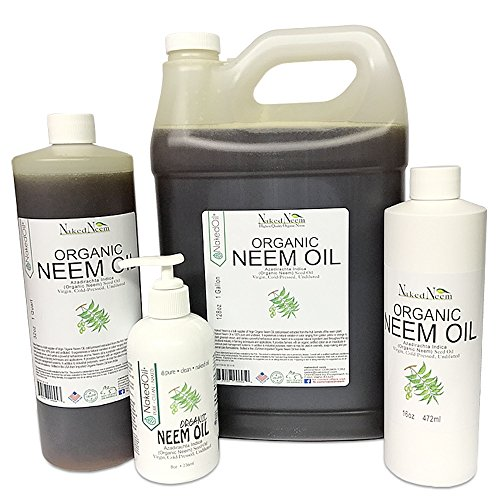[Organic Neem Oil (8 oz), 100% Pure Cold Press, Unrefined - 6 Sizes, Best Prices] (Neem Seed Oil)