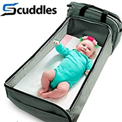 With the creation of this portable bassinet mattress baby travel bed and co-sleeper, SCUDDLES has reinvented the way babies sleep and play both indoors and outdoors! The bedside bassinet to-go is the only soft, portable baby bed that convenie...