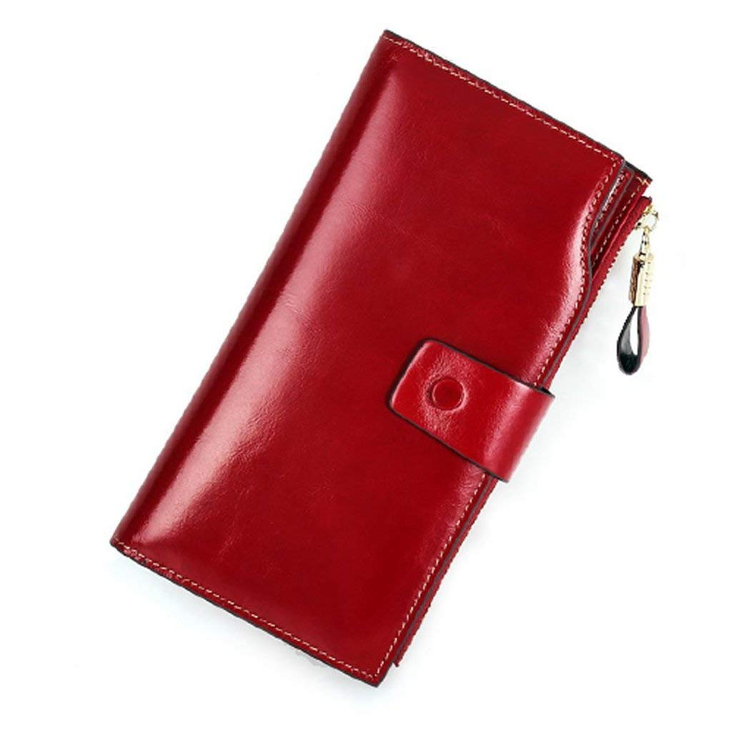 6 Cross Women's Leather Wallets RFID Blocking Vintage Design Large Capacity for Work (color    2)
