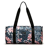 Jadyn B 19″ Barrel Women's Duffel Bag, Navy Floral