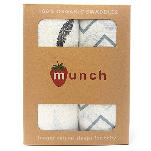 - 100% organic cotton swaddling blankets, organic cotton is toxin free, hypoallergenic and super soft fabric for fewer allergies and better sleep