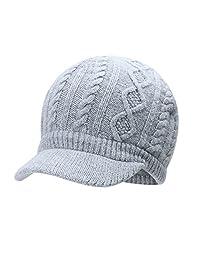 vivobiniya Kids Winter Knit Visor Hat Baby Girl Knitted Beanie Cap 1-8years Old