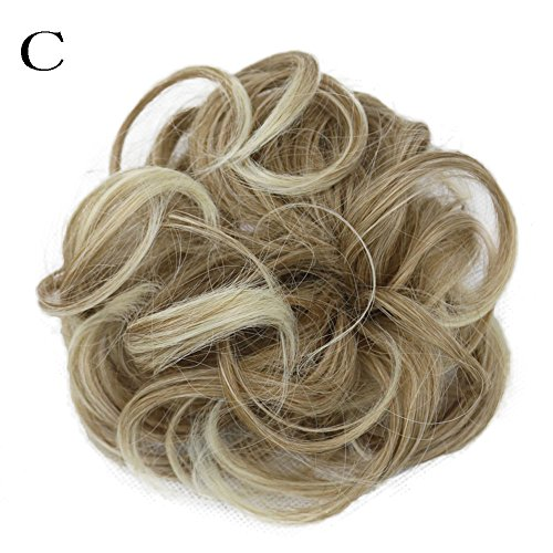 Valentine's Best Party Gifts for Women!!! Hennta Women's Curly Messy Bun Hair Twirl Piece Scrunchie Wigs Extensions Hairdressing for $<!--$3.99-->
