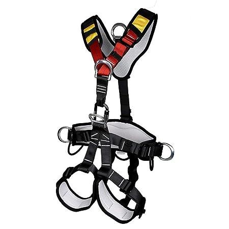 HEMFV Arnés de escalada, Cinturón de seguridad de cuerpo completo ...