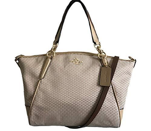 Coach Legacy Jacquard Small Kelsey Satchel Crossbody Handbag