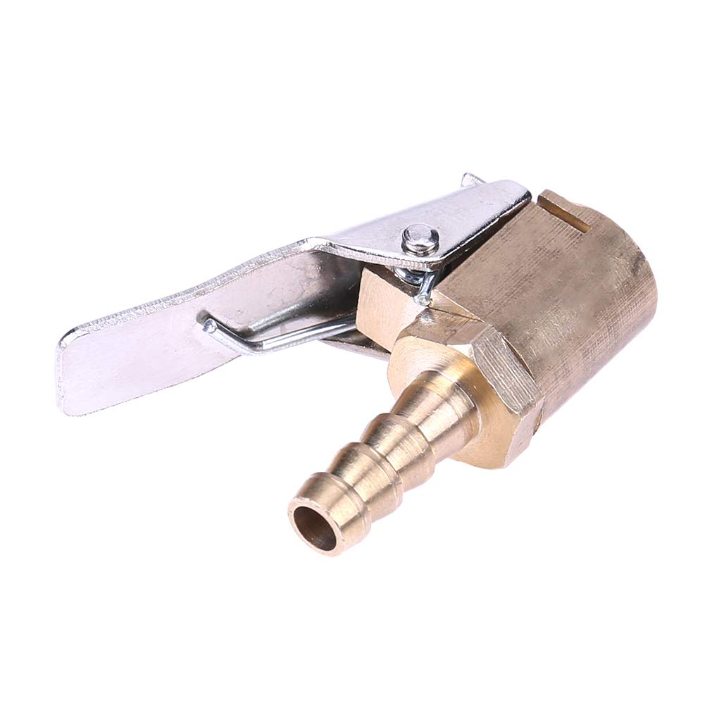 Ahomi 6 mm Coche cami/ón neum/ático inflador v/álvula de Aire Clip-on Air Chuck Conector de lat/ón
