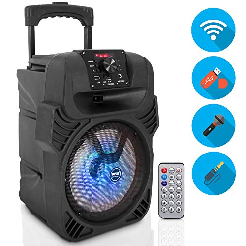 400W Portable Bluetooth PA Loudspeaker - 8' Subwoofer System, 4 Ohm/55-20kHz, USB/MP3/FM Radio/ ¼...
