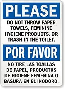 Amazon Com Please Do Not Throw Paper Towels Feminine