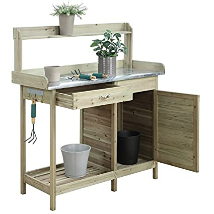 Stupendous Amazon Com Convenience Concepts Deluxe Potting Bench With Ibusinesslaw Wood Chair Design Ideas Ibusinesslaworg
