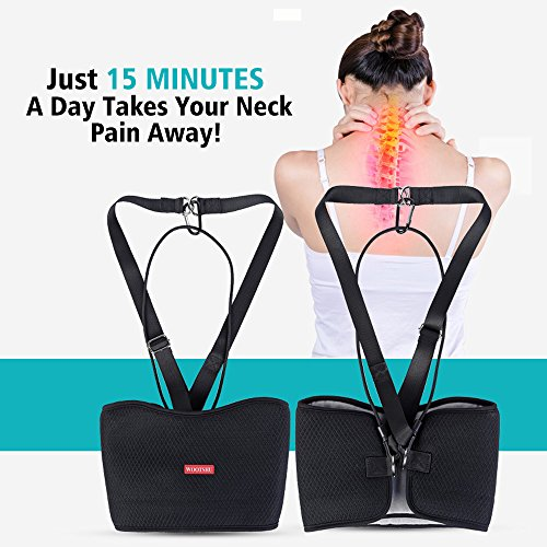 MS.DEAR Head Hammock for Neck Pain Relief, Hammock Stretcher Cervical Traction for Neck, With One Eye Mask for Sleeping by MS.DEAR (Image #2)