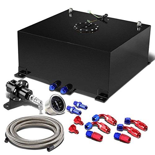 15 Gallon Aluminum Open Top (15-Gallon Black Gas Tank & Cap+12