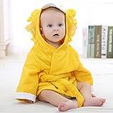 WensLTD Baby Bathrobe Toddler Girls Boys Velvet Robe Cartoon Towel Pajamas Dress Clothes (E)