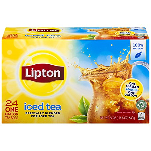 - Lipton 1 gal yield Iced Tea, Unsweetened Smooth Blend 24 count