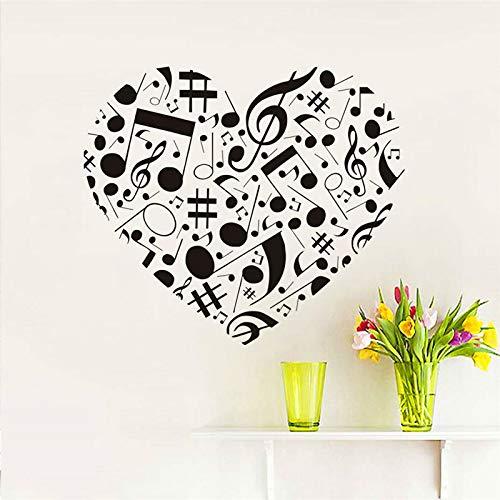 Diseño Creativo Nota Musical Corazón Vinilo Etiqueta De La Pared ...