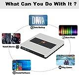 External CD Drive NOLYTH USB 3.0 USB C CD DVD +/-RW Drive Portable CD DVD Player Burner Drive for Laptop/MacBook Air/Pro/Windows