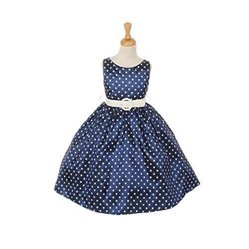 Buy belted polka dot dress - 9