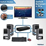 TRENDnet 4-Port USB/PS2 KVM Switch and Cable Kit