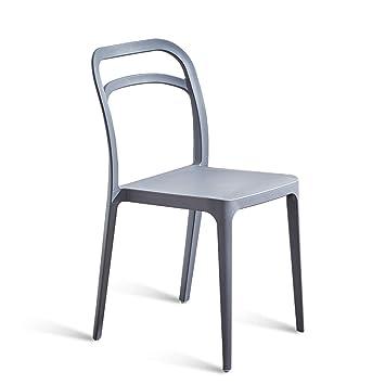 Amazon.com - LRW Modern Minimalist Plastic Chairs, Home ...