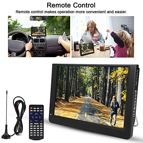 fosa 1080P Car Digital TV, LEADSTAR 12in Color Screen Television, Portable Handheld ATV/UHF/VHF Stereo Surrounding Car Television for Bedroom, Kitchen, Caravan, Build in Rechargble Battery by fosa (Image #5)